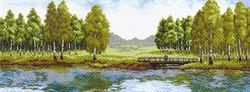 """Рисунок на канве  """"Летний  полдень""""  """"Матренин Посад"""" 1562"""