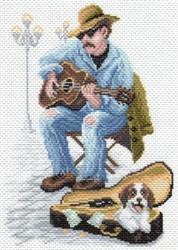 "Рисунок на канве  ""Музыкант""  ""Матренин Посад"" 1670"