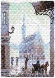 "Рисунок на канве ""Старый город"" ""Матренин Посад"" 1643"