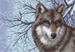 "Рисунок на канве  ""Волк""  ""Матренин Посад""  1538"
