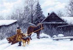 """Рисунок на канве  """"Зима""""  """"Матренин Посад"""" 1199"""