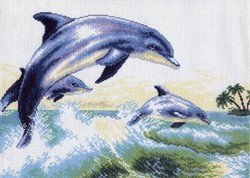 "Рисунок на канве ""Дельфин"" ""Матренин Посад""  0456"