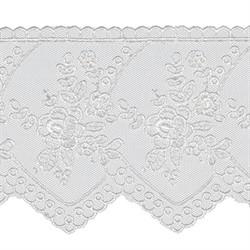 Кружево 78 мм  цвет белый  1м