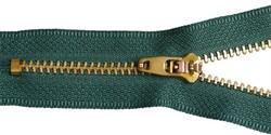 Молния джинсовая золото №4  16см  (цв.265 зеленый)