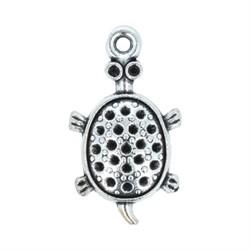 "Подвеска ""Черепаха"" античное серебро"