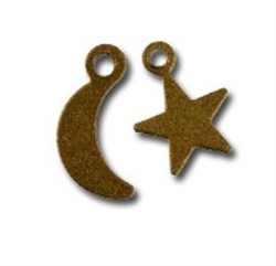 Подвески 'Звезды и луна'  бронза