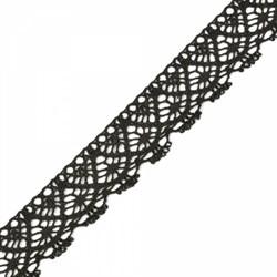 Тесьма вязаная 30.01.024 шир.30мм черный