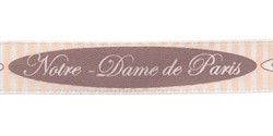"Лента атласная с рисунком ""Notre-Dame De Paris"" 12 мм 1 м"