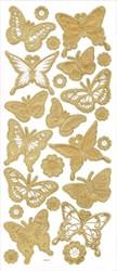 """Наклейки трехмерные  """"Бабочки"""" (под золото)"""