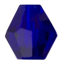 Бусины стеклянные биконус  4 х 4 мм  34 шт  на нити