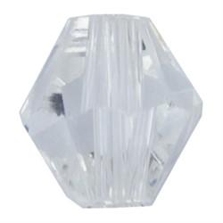 Бусина  стеклянная биконус   6 х 6 мм  1 шт