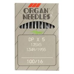 Иглы для пром. шв. машин 'ORGAN'  №100  DP*134 / DP*5   1 шт.