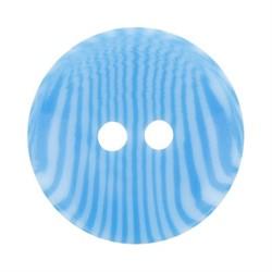 Пуговицы детские 11 мм ярко-голубые  1 шт