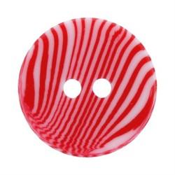 Пуговицы детские 11 мм  красные 1 шт
