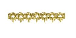 Тесьма  металлизированная золото 16 мм 1м