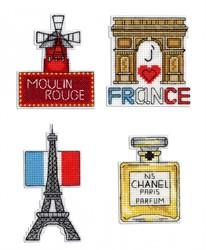 """""""Франция"""" Магниты 5х10см 6х8см 7х7см 5х7см МП Студия"""