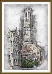 """Набор для вышивания """"Бельгия. Брюгге"""" 27,5х41,5 см  """"Нова Слобода"""""""