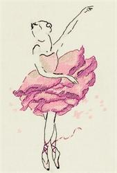 """Балерина. Роза."" 14 x 22 см ""Panna"""