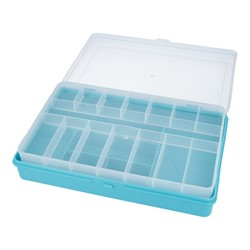 Коробка для мелочей пластиковая №3 бирюзовая