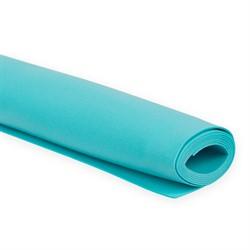 Пластичная замша (фоамиран)  60 х70 см  бирюзовый