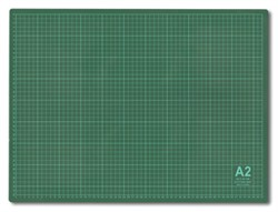 Мат для резки  60 x 45 см (A2) серо-зеленый