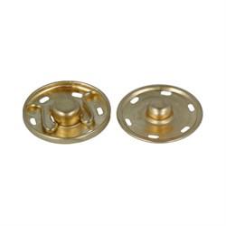 Кнопки пришивные металлические d-25 мм (золото)
