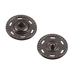Кнопки пришивные металлические d-25 мм (черный никель)