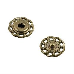 Кнопки пришивные металлические d 21 мм (бронза)
