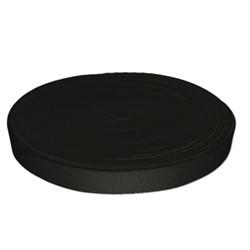 Лента эластичная черная 25 мм 1 м