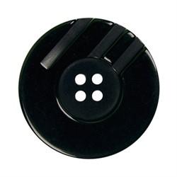 Пуговицы пальтовые\шубные  34 мм сине-черные