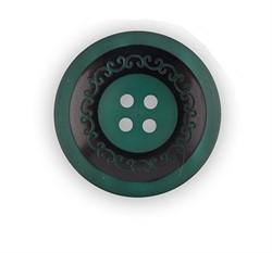 Пуговицы пальтовые/шубные 30 мм темно-зеленые 1шт