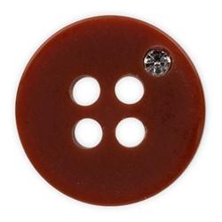 Пуговицы рубашечные/блузочные 11 мм коричневые  1шт
