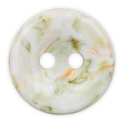 Пуговицы рубашечные/блузочные 11 мм бело/темно-зеленые  1шт.
