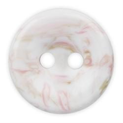 Пуговицы рубашечные/блузочные 11 мм бело/розовые  1шт.