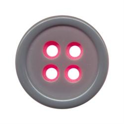 Пуговицы костюмные с проколами 15 мм серо-розовые 1 шт