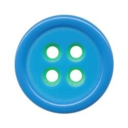 Пуговицы костюмные с проколами 15 мм салатово-голубые 1 шт