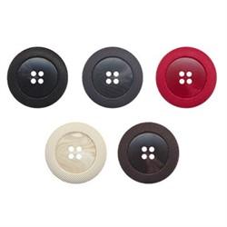 Пуговицы пальтовые/шубные 30 мм черные 1 шт