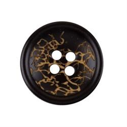 Пуговицы пальтовые/шубные 20 мм черные 1 шт