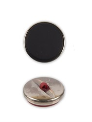 Пуговицы пальтовые/шубные 28 мм черные 1 шт