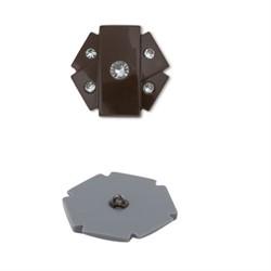 Пуговицы шубные 38 мм коричневые 1 шт