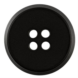 Пуговицы пальтовые 25 мм черные 1 шт