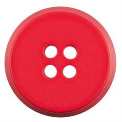 Пуговицы пальтовые 25 мм светло-красные 1 шт