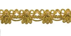 Тесьма  металлизированная 19 мм  золото 1 м