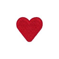 """Термоаппликация """"Красное сердечко""""  4*4 см  1 шт"""