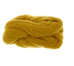 Полутонкая 100% шерсть для валяния 50 г цвет: св. горчица