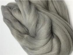 Полутонкая 100% шерсть для валяния 50 г цвет: св. серый