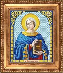 """Основа для вышивки бисером """"Св.Великомученица Анастасия""""  20х25 см """"Благовест"""""""