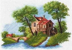 """Рисунок на канве """"Голландский пейзаж"""" 37х49 см """"Матренин Посад"""""""