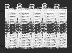 Лента шторная прозрачная с ворсом 60 мм сборка: шахматы 1 м