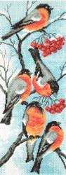 """Рисунок на канве """"Снегири"""" 24 см х 47 см  """"Матренин Посад"""""""